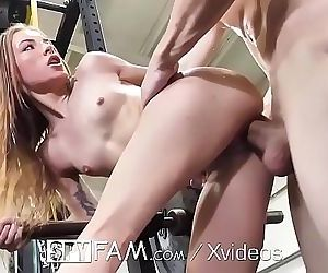 SPYFAM Stepsister fucked at the gym by big dick step..