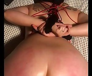 Pawg slut wife tied up and fucked by bbc dildo 11 min