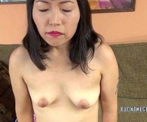 Asian slut Yuka Ozaki is on her knees and sucking dick - 6..