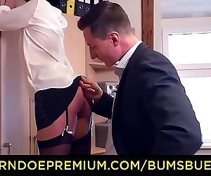 German Secretary Mareen Deluxe Seducing Boss to Fuck 11..