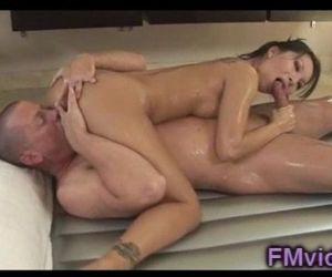 Sweet asian Asa Akira gives amazing massage - 5 min