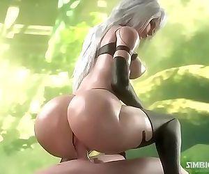 A2 Nier Automata Hentai 3D 4 min