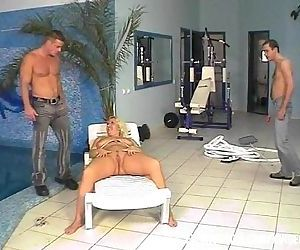 Pool Guys Fucks Fat Blonde