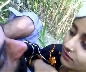 Desi man with beautifull teen outdoor - 3 min