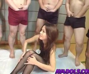 Kaoru has pussy teased with vibrators in hot group session..