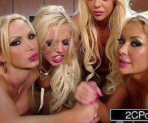 Blonde Orgy at the Office Courtney Taylor, Nikki Benz,..