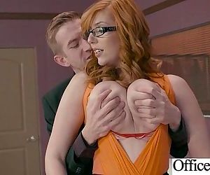 Girl With Round Big Tits In Hard Style Sex In Office clip-13