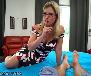 Busty Blonde Mom Let's Step-Son Creampie Her Hairy Pussy..
