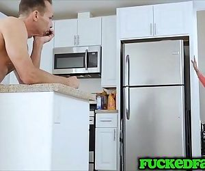 Wow Karlie Brooks can not get enough hard stepdad cock