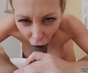 Hot blonde milf sucks cock Cherie Deville in Impregnated..