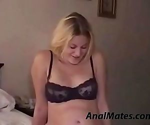 Pregnant blonde first time anal 10 min