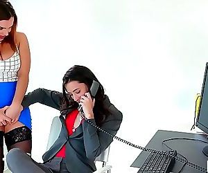 Caught on having sex in the office!Georgia Jones,..