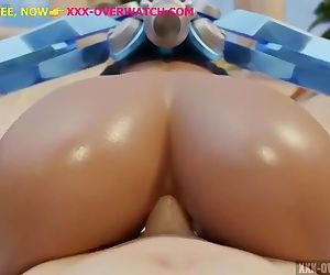Latina booty fuck, in overwatch xxx parody game