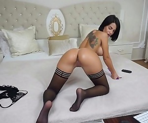 Hot brunette Anisyia loves anal games with sex toy 5 min
