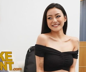 Fake Agent Asian babe Rae Lil Black fucked on the casting..