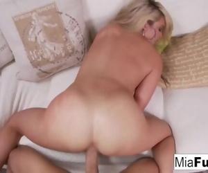 Hot Mia gets her pussy fucked hard