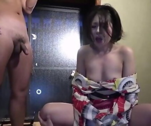 Japanese cuckold films his hotwife with stranger