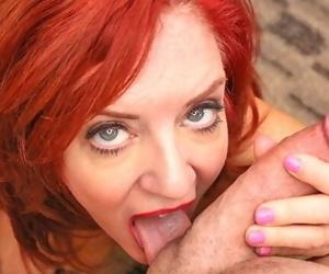 MILFTRIP Huge Tit Red Head MILF Deep Throats Big Dick..