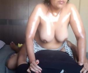 Karisma - S5 E1 - Busty Indian Babysitter - Oil Overload