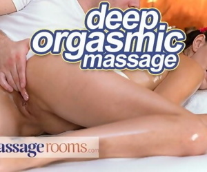 Massage Rooms Deep sensual orgasms for petite Czech babe..