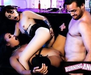 BurningAngel Horny AF Anal Teens Seduce a Bartender