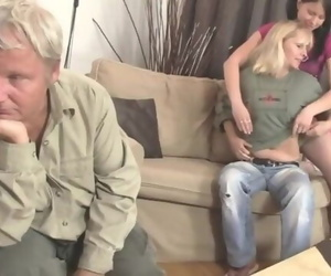 Brunette Girl and his Family Taboo Sex Orgy
