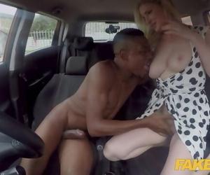 Fake Driving School Georgie Lyall Gets a Huge Black Dick..