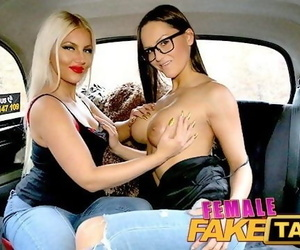 Female Fake Taxi Lesbians Admire each others Beautiful Big..