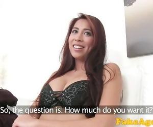 Fake Agent Amazing Beautiful Tits and Ass Model Fucked Hard