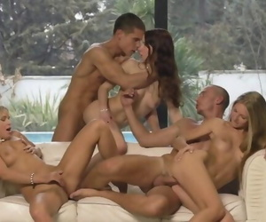 Awesome Hot Euro Orgy - 3 Girls vs 2 Guys
