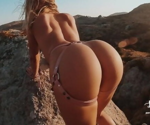 We Climbed Off-road to Tie her up and Fuck Hard Outdoor!..