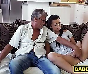 Teens boyfriend is busy so his daddy will do for now 7 min..