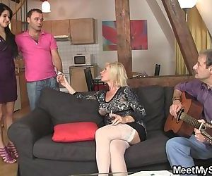 Sweetie gets lured into threesome by her BFs parents - 6 min