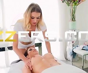 Crystal Rush And Natalia Starr In Couple Cums For A Massage