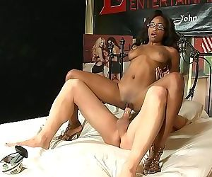 Busty ebony babe Ivy Sherwood wants big white cock 23 min..