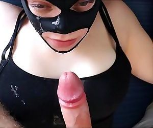 BRUTAL POV face fuck as April gets pinned and chokes on..