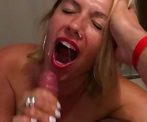 My slut ex gf tells me to cum in her mouth before her..