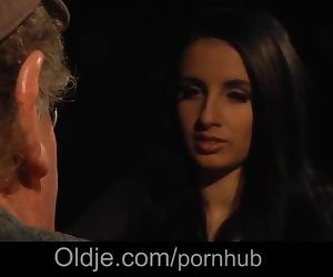 Young girl has blind date with old grandpa that turns into..