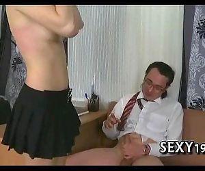 Raunchy spooning with teacher - 5 min
