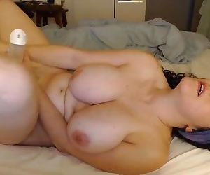 Cum addicted busty girl fucks her dildo