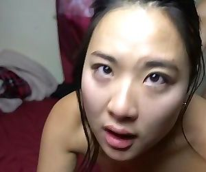 Asian Girlfriend CUM dripping out of her pussy after..