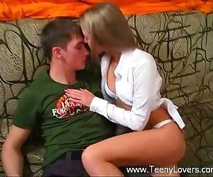 Teen going wild on cock - 5 min