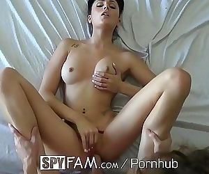 Step sister Ariana Marie gets curious about step brother..