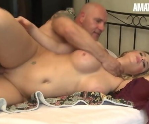 LETSDOEIT - Slutty French Teen Fucked Hard By Her Step Daddy