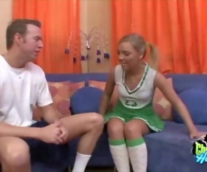 Naughty Cheerleader Cock Sucking