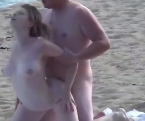 Hard Fuck on the Beach with Busty Teen