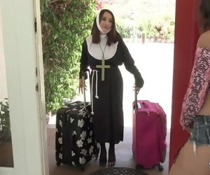 Slutty Teen Lesbian Fingering and Toying with her Nun..