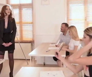 Blowjob Class become in a Fantastic Orgy