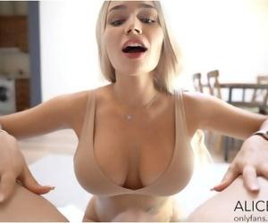 Big Titty Alice Gets Facial - Alice Redlips