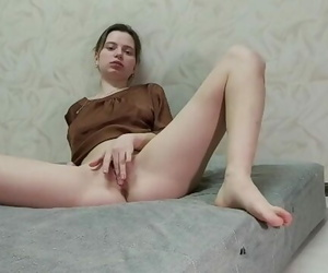 Beauty with a Perfect Figure, Caressing Brings herself to..